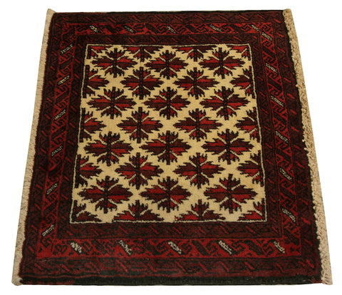 22237 - Balutch Hand-Knotted/Handmade Afghan Rug/Carpet Tribal/Nomadic Authentic