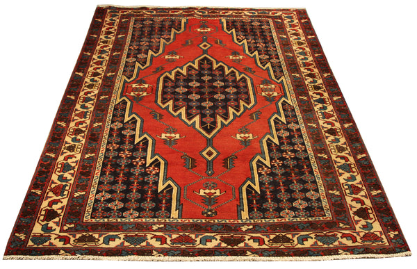 22141 - Hamadan Hand-Knotted/Handmade Persian Rug/Carpet Traditional Authentic