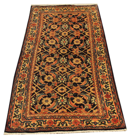 "22116 - Sarough Handmade/Hand-Knotted Persian Rug/Carpet Authentic/Size 4'2"" x 2'0"""