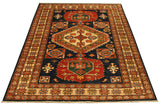 "22453 - Kazak Hand-Knotted/Handmade Afghan Tribal/Nomadic Authentic/Size 6'2"" x 4'1"""
