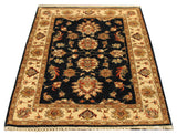"22297 - Chobi Ziegler Hand-Knotted/Handmade Afghan Rug/Carpet Modern Authentic/Size 3'11"" x 2'8"""