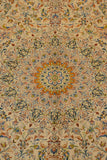 11813 - Qom Persian Hand-knotted Authentic/Traditional Carpet/Rug Silk-made Signed-piece