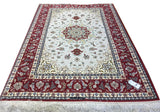 19781-Isfahan Hand-Knotted/Handmade Persian Rug/Carpet Traditional Authentic
