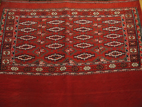 "15129-Turkmen Sumac Bag Hand-Knotted/Handmade Persian Rug/Carpet Tribal/NomadicAuthentic  3'3"" x 2'7"""
