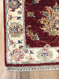 21080-Chobi Ziegler Hand-knotted/Handmade Afghan Rug/Carpet Traditional Authentic