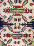 21011-Kazak Hand-Knotted/Handmade Afghan Rug/Carpet Tribal/Nomadic Authentic