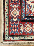 "20984-Kazak Hand-Knotted/Handmade Afghan Rug/Carpet Tribal/Nomadic Authentic4'1"" x 2'9"""
