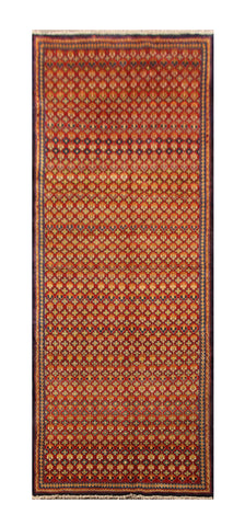 "22928 - Hamadan Hand-Knotted/Handmade Persian Rug/Carpet Traditional Authentic/Size 9'9"" x 3'9"""