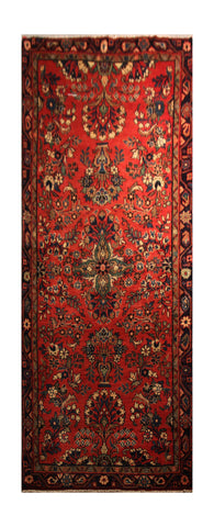 "22887 - Hamadan Persian Hand-Knotted Authentic/Traditional Nomadic/Tribal Carpet/Rug/Size 8'8"" x 3'3"""