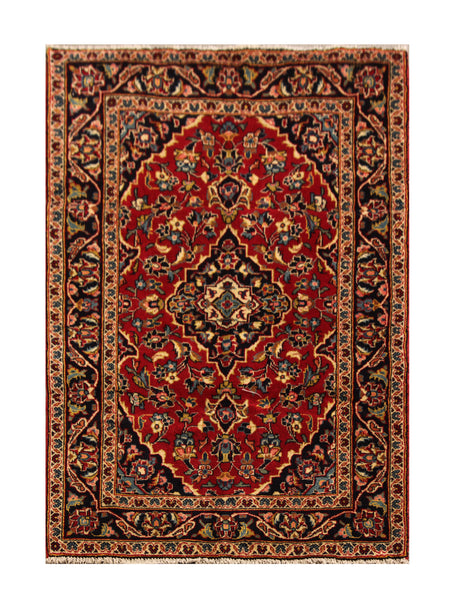 "22948 - Kashan Handmade/Hand-Knotted Persian Rug/Carpet Authentic/Size 5'4"" x 3'3"""
