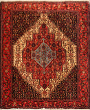"22934 - Senneh Hand-Knotted/Handmade Persian Rug/Carpet Tribal/Nomadic Authentic/Size 4'10"" x 4'0"""