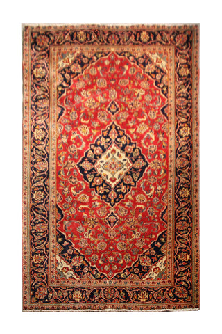"22849 - Kashan Handmade/Hand-Knotted Persian Rug/Carpet Authentic/Size 8'0"" x 4'9"""