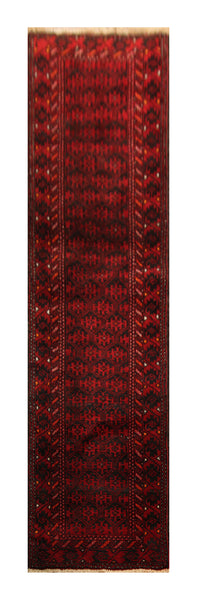 "22908 - Balutch Hand-Knotted/Handmade Afghan Rug/Carpet Tribal/Nomadic Authentic/Size 7'7"" x 1'10"""
