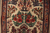 "23059 - Sarough Handmade/Hand-Knotted Persian Rug/Carpet Authentic/Size 3'11"" x 2'2"""