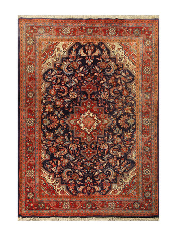"22848 - Meymeh Hand-Knotted/Handmade Persian Rug/Carpet Tribal/Nomadic Authentic/Size 6'7"" x 4'7"""