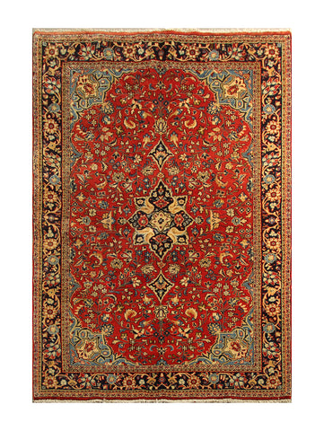 "22874 - Sarough Handmade/Hand-Knotted Persian Rug/Carpet Authentic/Size 6'5"" x 4'2"""
