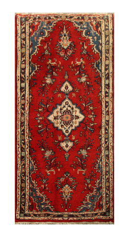 "22894 - Hamadan Persian Hand-Knotted Authentic/Traditional Nomadic/Tribal Carpet/Rug/Size 6'4"" x 3'0"""