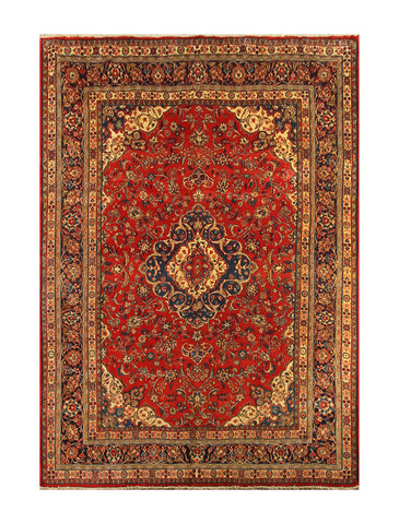 "23020 - Sarough Handmade/Hand-Knotted Persian Rug/Carpet Authentic/Size 10'1"" x 7'2"""
