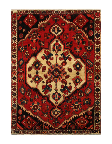 "22968 - Bakhtiar Hand-Knotted/Handmade Persian Rug/Carpet Traditional Authentic/Size 7'0"" x 5'0"""