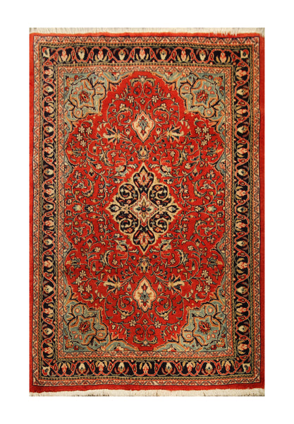 "22907 - Abadeh Hand-Knotted/Handmade Persian Rug/Carpet Authentic/Size 4'11"" x 3'3"""