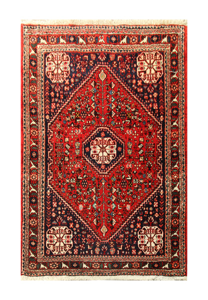 23017 - Abadeh Hand-Knotted/Handmade Persian Rug/Carpet Authentic/Size 4'11' x 3'3""