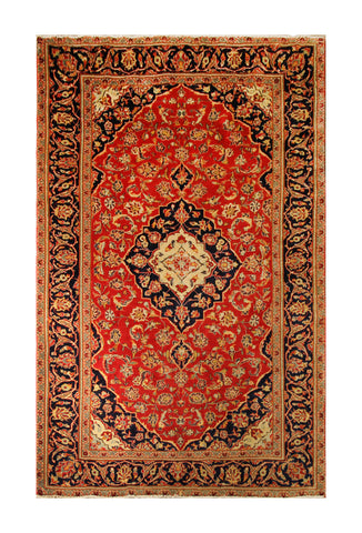 "22850 - Kashan Handmade/Hand-Knotted Persian Rug/Carpet Authentic/Size 7'11"" x 4'10"""