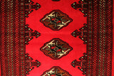 "22917-Turkmen Hand-knotted/Handmade Persian Rug/Carpet Tribal/Nomadic Authentic/Size 6'3"" x 2'8"""