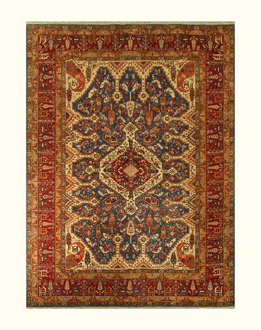 "23092 - Chobi Ziegler Afghan Hand-knotted Contemporary/Modern Carpet/Rug/Size 12'1"" x 8'6"""