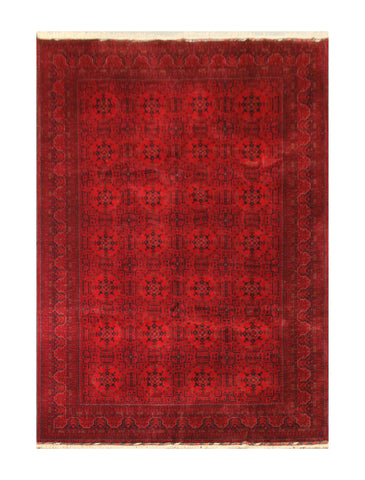"23341- Khal Mohammad Hand-Knotted/Handmade Afghan Rug/Carpet/Nomadic Authentic/Size 10'0"" x 6'8"""