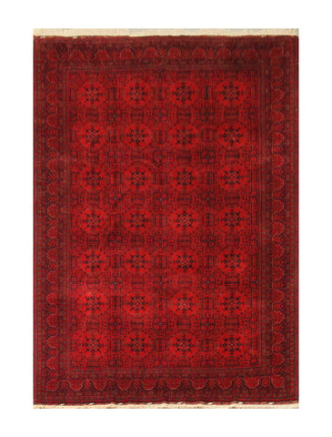 "23340- Khal Mohammad Hand-Knotted/Handmade Afghan Rug/Carpet/Nomadic Authentic/Size 10'0"" x 6'6"""