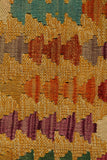 "23313 - Kelim Hand-Knotted/Handmade Afghan Kelim Pillow Cover/Carpet Tribal/Nomadic Authentic/Size 1'8"" x 1'8"""