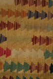 "23240 - Kelim Hand-Knotted/Handmade Afghan Kelim Pillow Cover/Carpet Tribal/Nomadic Authentic/Size 1'8"" x 1'8"""
