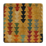"23284 - Kelim Hand-Knotted/Handmade Afghan Kelim Pillow Cover/Carpet Tribal/Nomadic Authentic/Size 1'8"" x 1'8"""