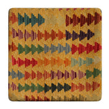 "23214 - Kelim Hand-Knotted/Handmade Afghan Kelim Pillow Cover/Carpet Tribal/Nomadic Authentic/SIze 1'8"" x 1'8"""