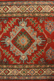 "23125 - Kazak Hand-Knotted/Handmade Afghan Tribal/Nomadic Authentic/Size 9'9"" x 2'9"""