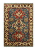 "23171 - Kazak Hand-Knotted/Handmade Afghan Tribal/Nomadic Authentic/Size 5'10"" x 3'10"""