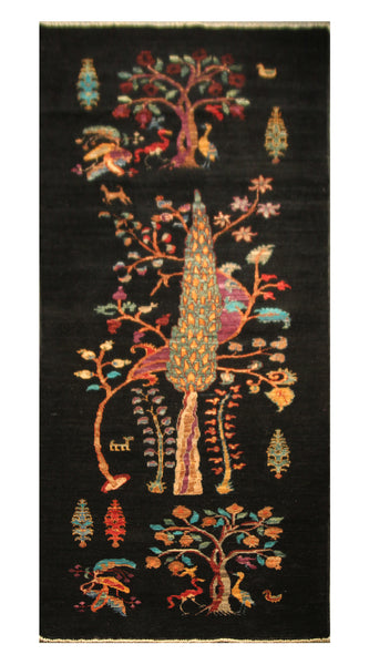 "22761 - Chobi Ziegler Afghan Hand-knotted Contemporary/Modern Carpet/Rug/Size 8'3"" x 2'10"""