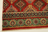 "22711 - Kazak Hand-Knotted/Handmade Afghan Tribal/Nomadic Authentic/Size 9'5"" x 2'8"""