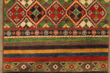 22713 - Kazak Hand-Knotted/Handmade Afghan Tribal/Nomadic Authentic