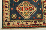 "22707 - Kazak Hand-Knotted/Handmade Afghan Tribal/Nomadic Authentic/Size 10'9"" x 2'3"""
