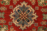 "22740 - Kazak Hand-Knotted/Handmade Afghan Tribal/Nomadic Authentic/Size 7'3"" x 5'0"""
