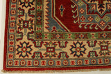 "22680 - Kazak Hand-Knotted/Handmade Afghan Tribal/Nomadic Authentic/Size 5'11"" x 4'0"""