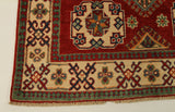 22678 - Kazak Hand-Knotted/Handmade Afghan Tribal/Nomadic Authentic