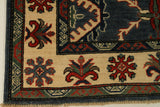 "22722 - Kazak Hand-Knotted/Handmade Afghan Tribal/Nomadic Authentic/Size 5'10"" x 3'11"""