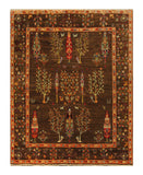 "22609 - Chobi Ziegler Hand-Knotted/Handmade Afghan Rug/Carpet Modern Authentic/Size 6'6"" x 5'2"""