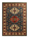 "22693 - Kazak Hand-Knotted/Handmade Afghan Tribal/Nomadic Authentic/Size 5'6"" x 3'11"""