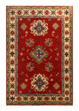 22754 - Kazak Afghan Hand-knotted Contemporary/Modern Nomadic/Tribal Carpet/Rug