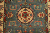 "22672 - Kazak Hand-Knotted/Handmade Afghan Tribal/Nomadic Authentic/Size 5'9"" x 4'0"""