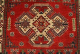 "22692 - Kazak Hand-Knotted/Handmade Afghan Tribal/Nomadic Authentic/Size 5'7"" x 4'1"""