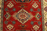 22718 - Kazak Afghan Hand-knotted Contemporary/Modern Nomadic/Tribal Carpet/Rug